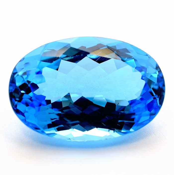 """Swiss Blue"" Topaz 30.04 ct"