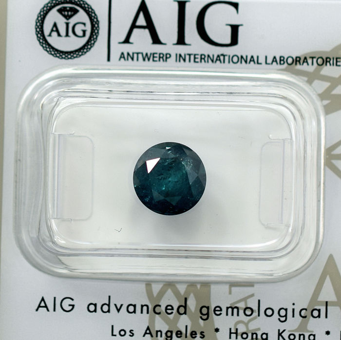 Fancy Intense Bluish Green Diamond - 1.75 ct