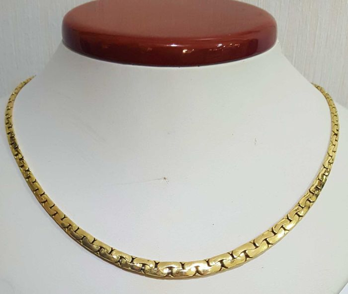 Gold necklace 18 kt, 50 cm and 16.18 g