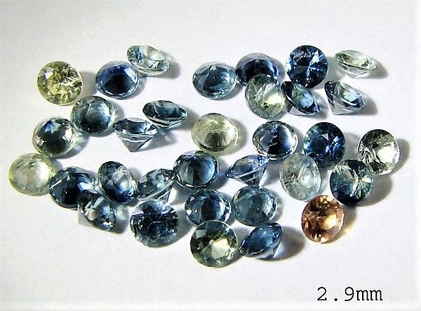 Sapphire - 4.00 cts - 33 pieces