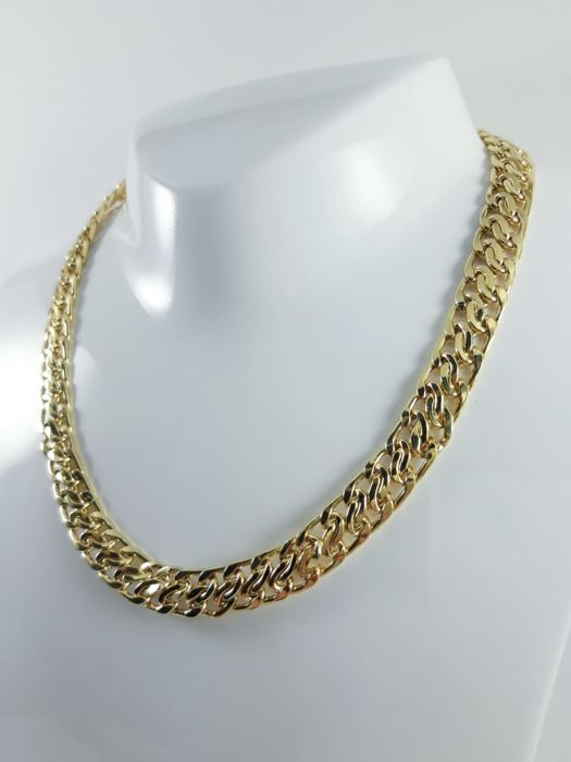 "Women's link chain ""Elions"" in 18 kt yellow gold Length: 44 cm"