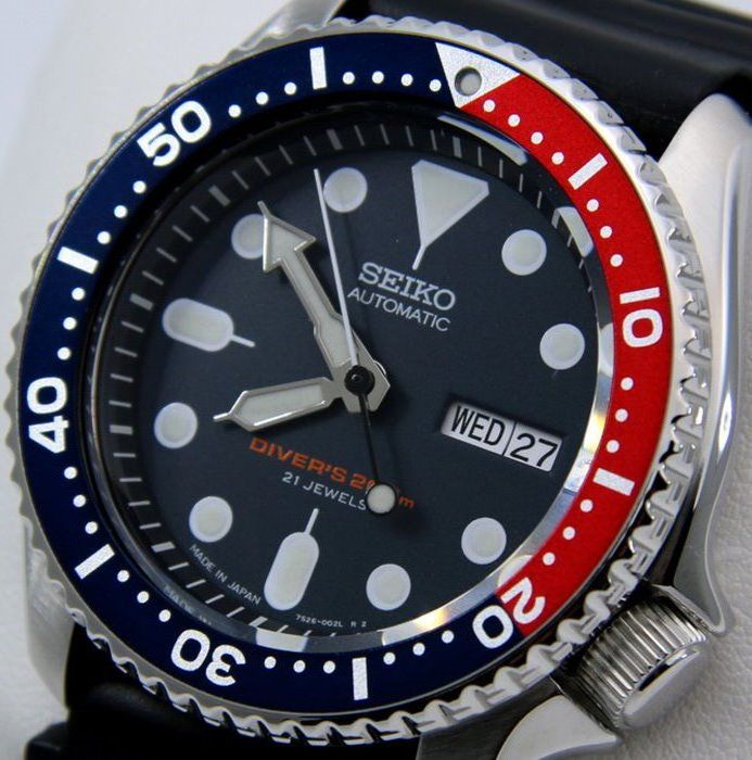 "Seiko - Scuba Automatic Blue-Red - Made in Japan - ""NO RESERVE PRICE"" - Men - 2018"