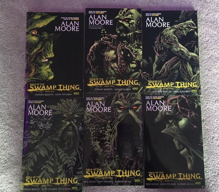 ALAN MOORE SERIES Book 1,2,3,4,5,6#26,27,29,43,58,71,76,77,78,83,87- SWAMP THING LOT (Books and Comics) - Paperback - Gemengde uitgaven - (1984/1989)