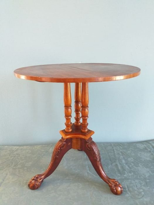 George III style tripod tea table - Wood, Mahogany