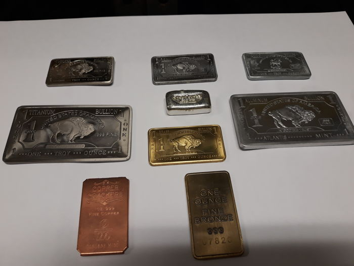 Rare metals one-ounce ingots
