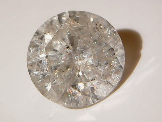 Diamond 0.44 ct, Brilliant cut, Colour G, Clarity I1