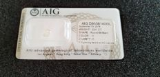 0.91 Round Brilliant H color I1 clarity certified and sealed by AIG labratory