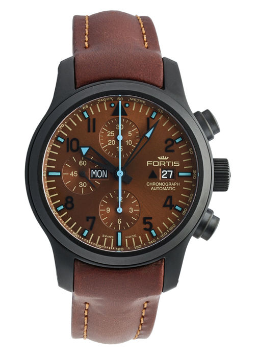 Fortis - B-42 Blue Horizon Chronograph PVD Limited Edition - 656.18.95 L.18 - Heren - 2011-heden