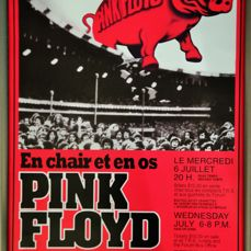 Pink Floyd 1977 Concert Poster & Ticket set Ready to frame! montreal
