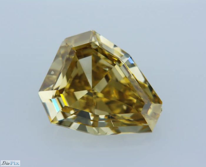 1 Diamond - 2.07 ct - Shield Cut - Yellow - ** LOW RESERVE **, VS2