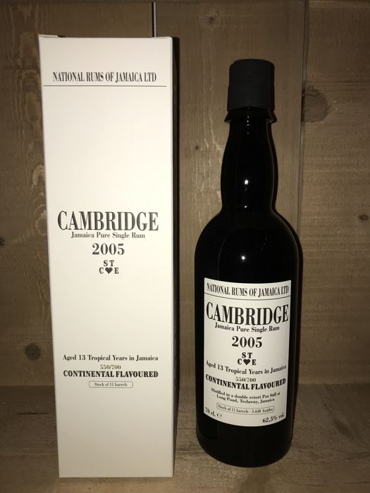 """Long Pond 2005 13 years old Velier - Cambridge """"Continental Flavoured"""" - 70cl"""