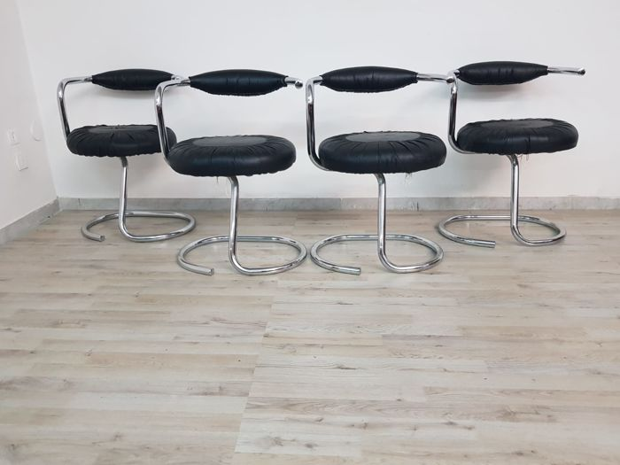Giotto Stoppino - Model: Cobra - Set of chairs