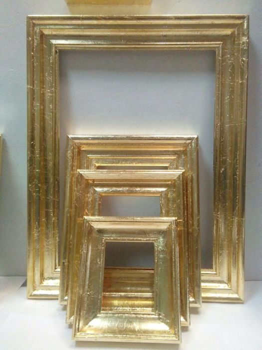Collection Of Pictures In Gold Leaf Frame Wood Baroque Catawiki
