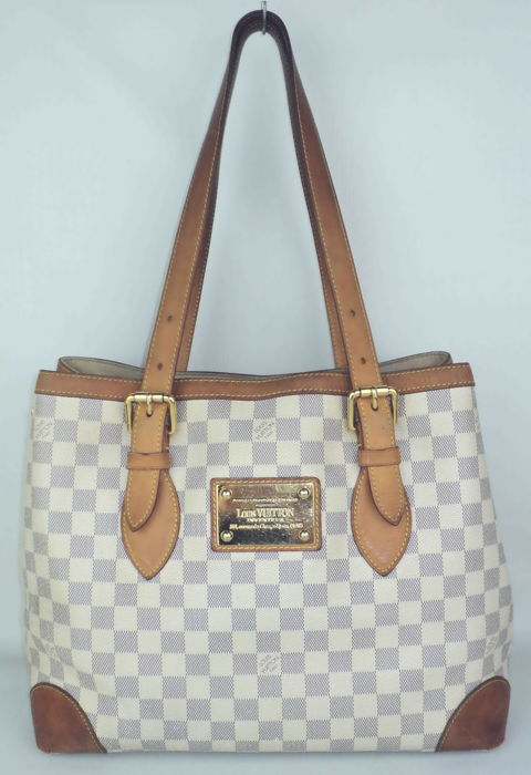 bc6e04dfc4bf Louis Vuitton - Damier Azur Hampstead MM Shoulder Hand Bag ...