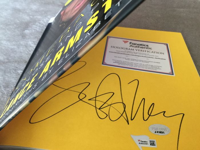 Cycling - Lance Armstrong signed by hand - 2009 - Book, Autobiographical