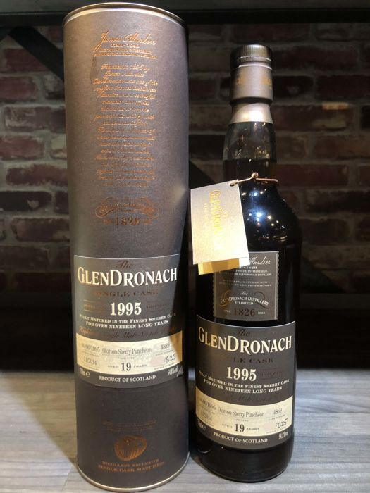 Glendronach 1995 19 years old Single Cask No. 4889 One of 625 Bottles  - 700ml