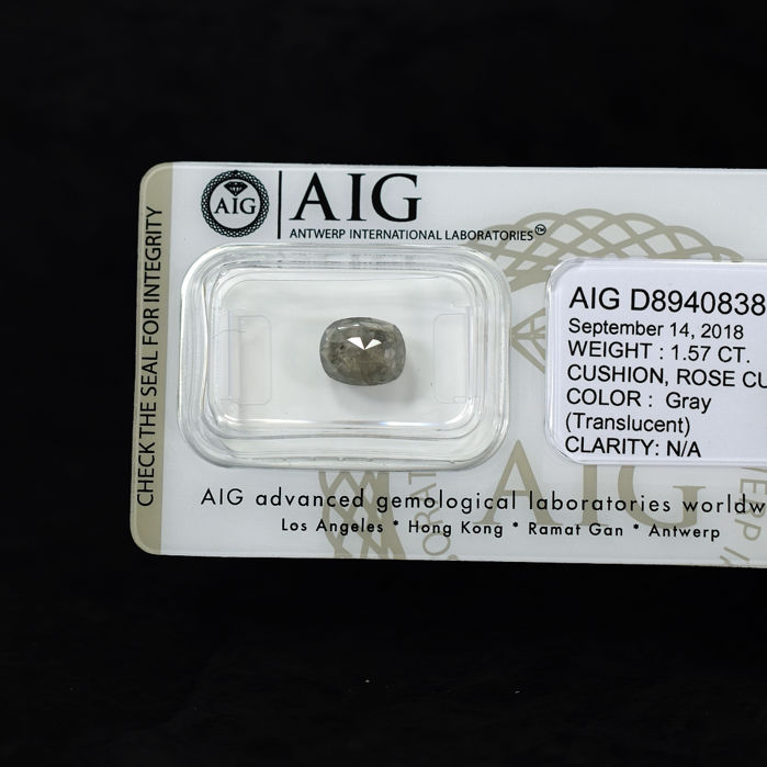 Natural Grey Diamond - 1.57 ct