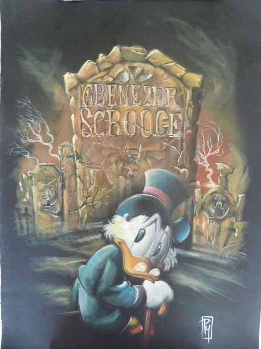 Mottura, Paolo - Original painting in poster paint and watercolours - SCROOGE - (2016)
