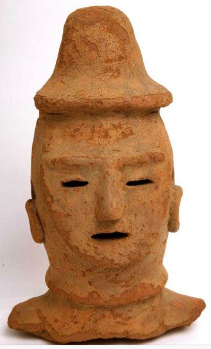Kofun Haniwa Warrior Head, TL tested - Japan - , ca. 4th-6th century AD