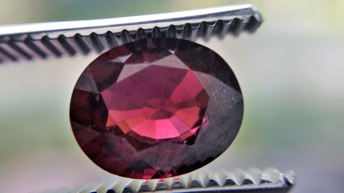 Rhodolite Garnet - Purplish Red - 3.33 ct