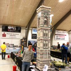 MOC - The bell tower of Florence's Duomo (100.000 bricks)