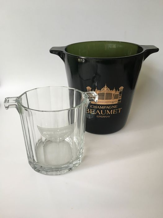 Two glass champagne coolers - Moet et Chandon and Beaumet