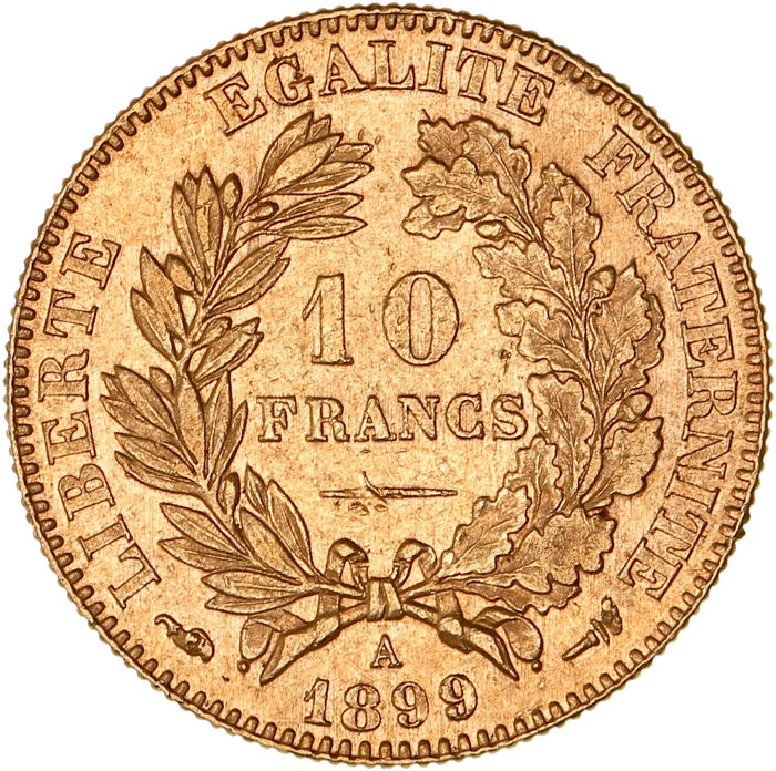France - 10 Francs 1899-A Ceres - Or