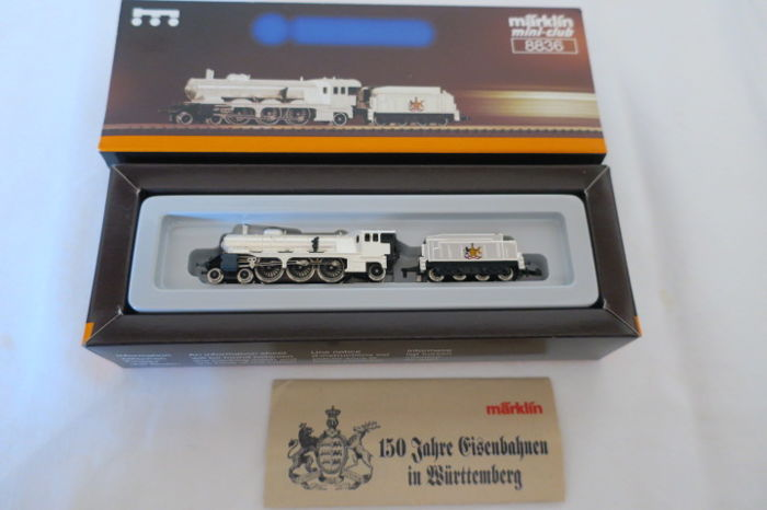 Märklin Z - 8836 - steam locomotive class C silver plated - anniversary model - K.W.St.E
