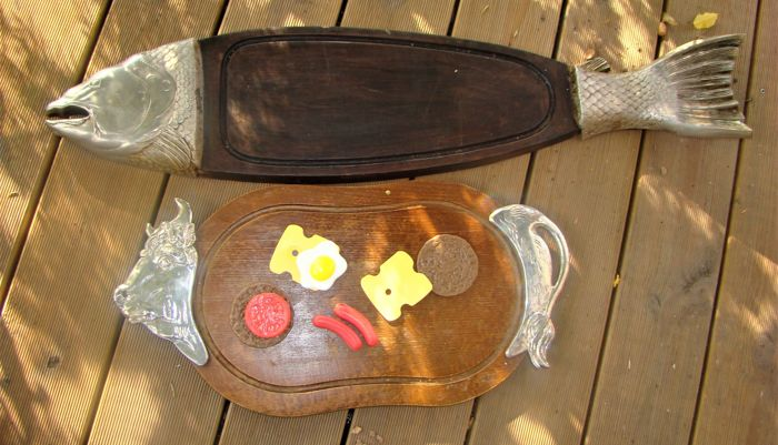 Plank 90 Cm.Bmf Intact Old Large Fish Plank And Meat Board Bmf Wood Catawiki