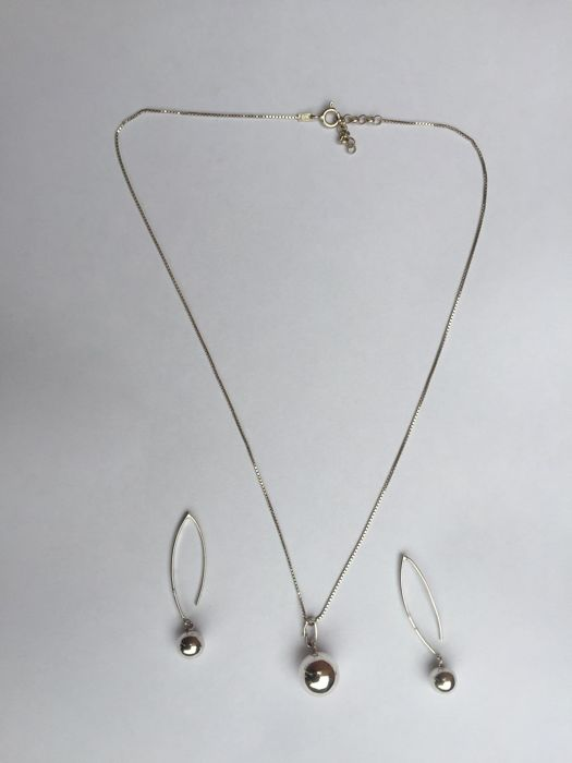 Silver - Earrings, Necklace, Pendant