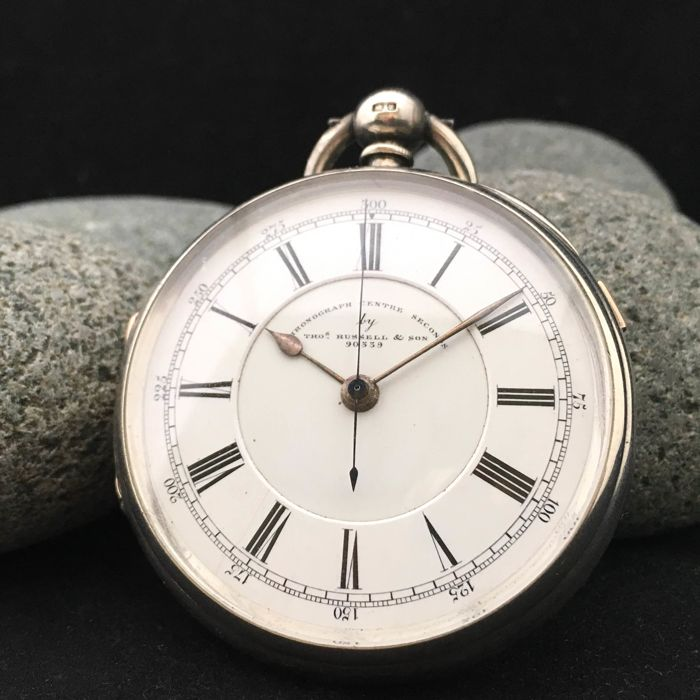 Thomas Russell & Son (Makers to the Queen) - Doctors centre seconds chronograph - Heren - 1895