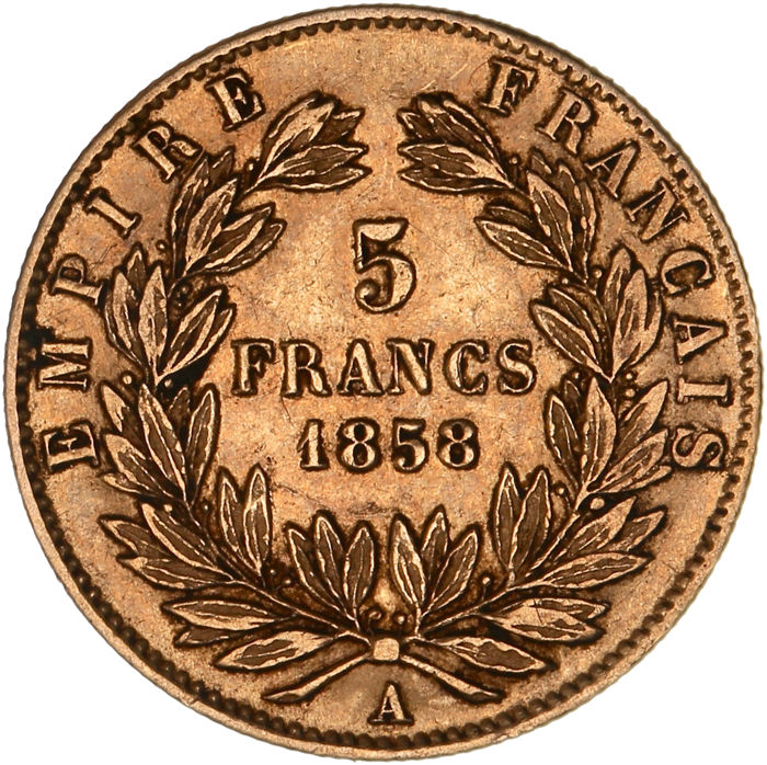 France - 5 Francs 1858-A Napoleon III - Gold