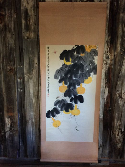 Scroll painting after the original work by Master Qi Baishi (replica) - China - 21st century