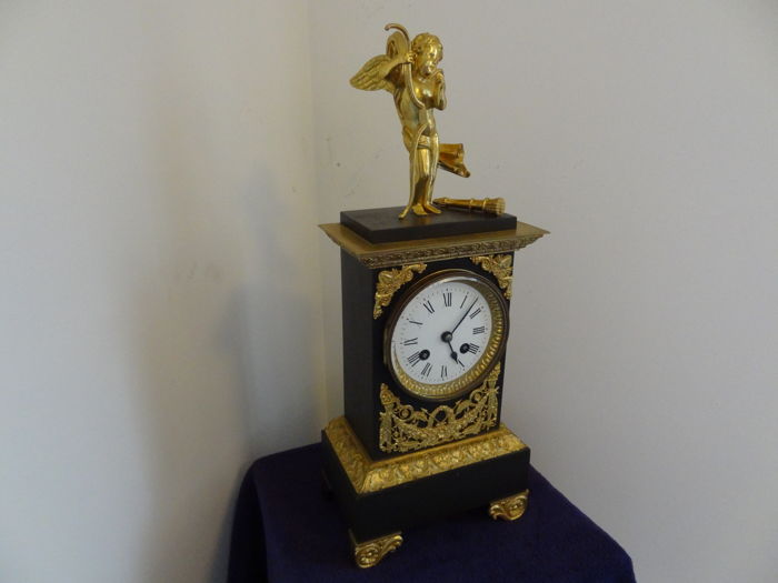 Carriage clock - Brass fire gilt with putty - 18th century