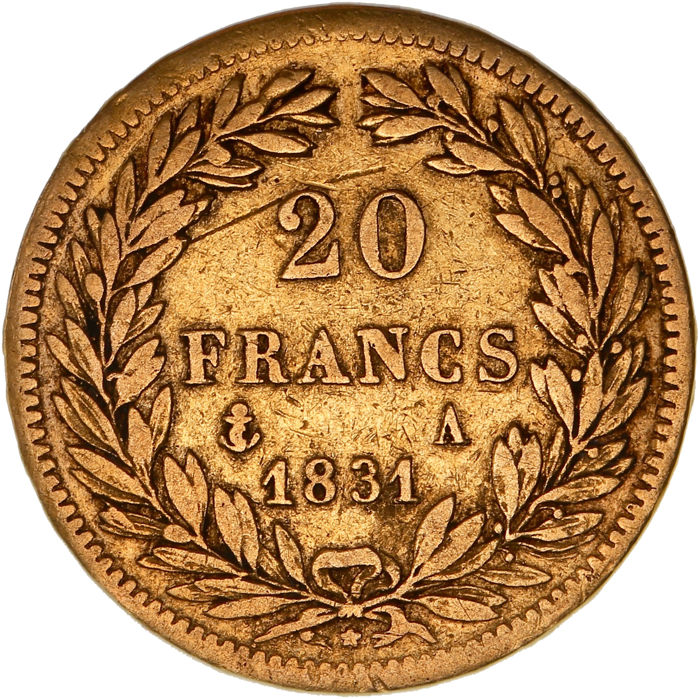 France - 20 Francs 1831-A Louis Philippe I - Gold