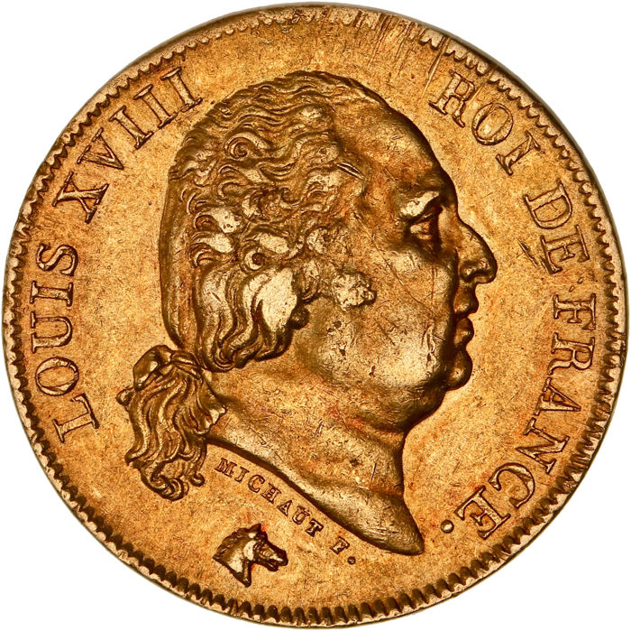 40 Francs 1818-W Louis XVIII - Or