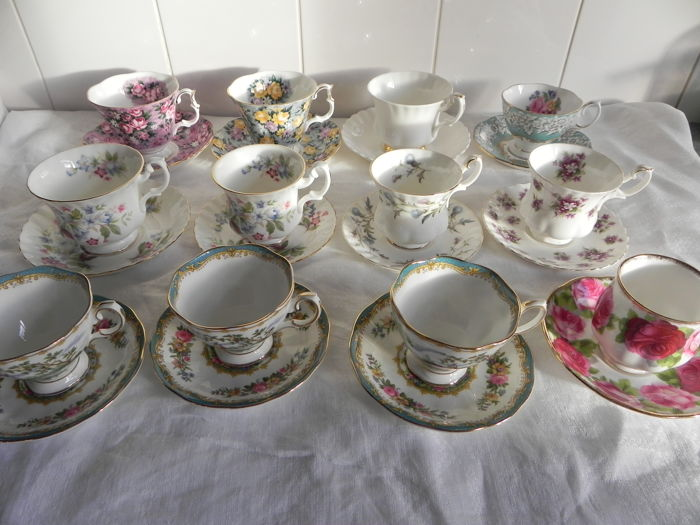 Royal Albert cup and saucers - different - porcelain