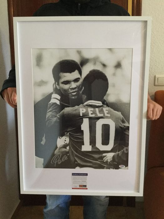 NRPrice, Pelé and Ali - Photography, Signed by hand by Pele, COA PSA !!!