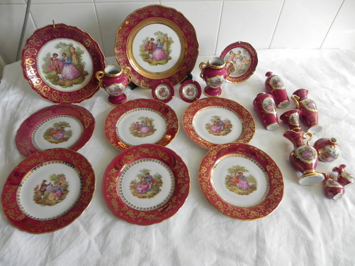 Limoges plates and vases