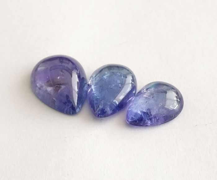 Triple Tanzanite Blue To  Violetish Blue 13.04 ct *** No Reserve ***