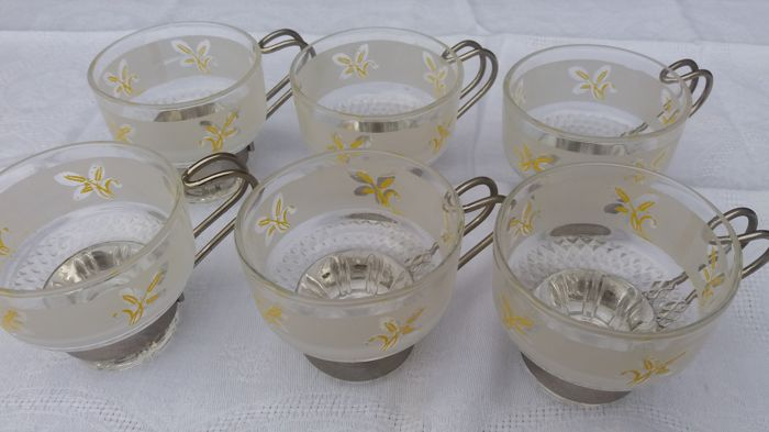 Lot of 6 coffee cups - Glass