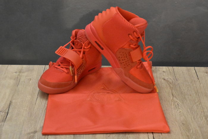 36e20dfa594 Nickelson - Nike   Kanye West - The Red October Air Yeezy 2 Sneakers ...