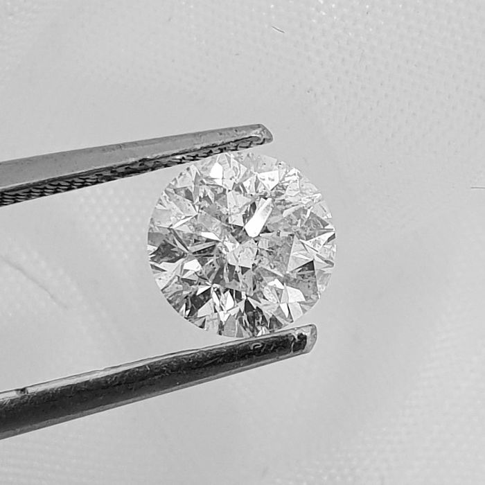 Diamante - 1.05 ct - Brillante - F - SI1