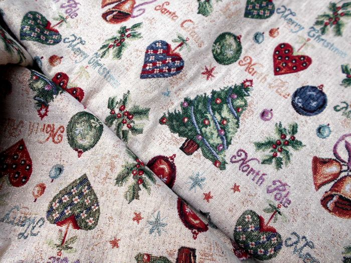 Gobelin fabric with lurex for Christmas - 1 - fabric