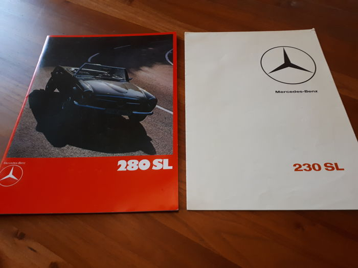 Brochures/ Catalogues - Mercedes-Benz 230 en 280 SL - 1965-2008 (2 items)