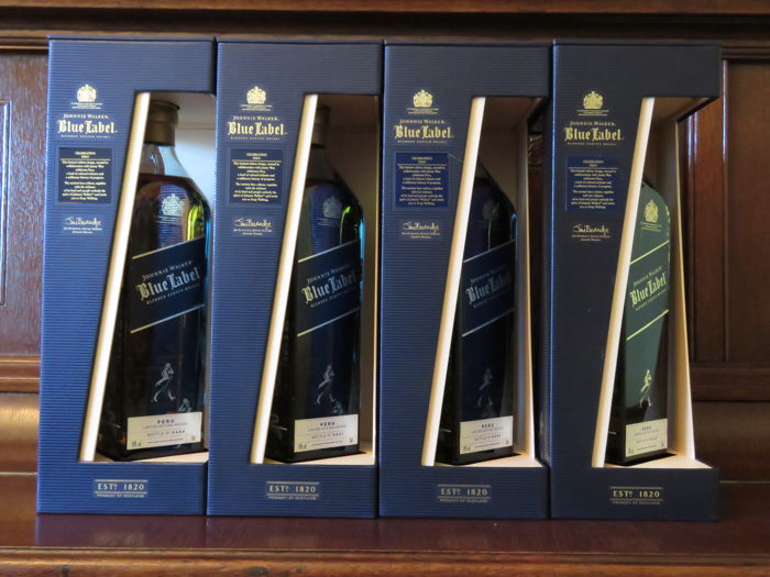 Johnnie Walker Blue Label Pioneer Peru - 750ml - 4 flessen