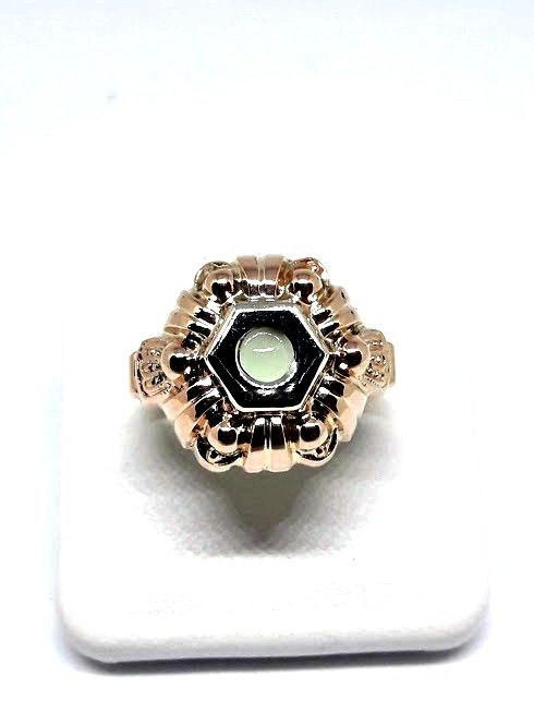 Art Deco ring (1920s) - 12 kt gold - Size 17 mm
