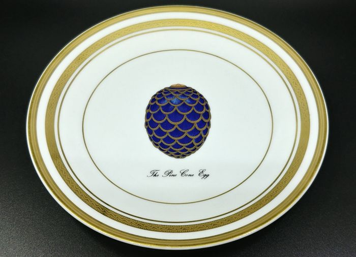 Fabergé Limoges France The Pine Cone Egg Plate - Porcelana