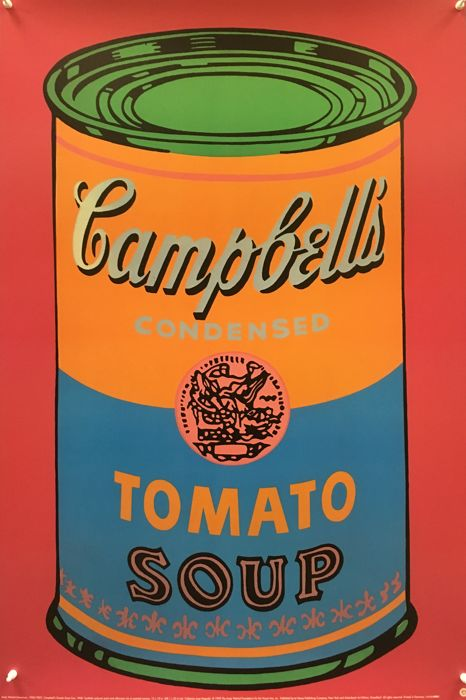 Andy Warhol - Campell's Tomato Soup Can 1968 - 1993