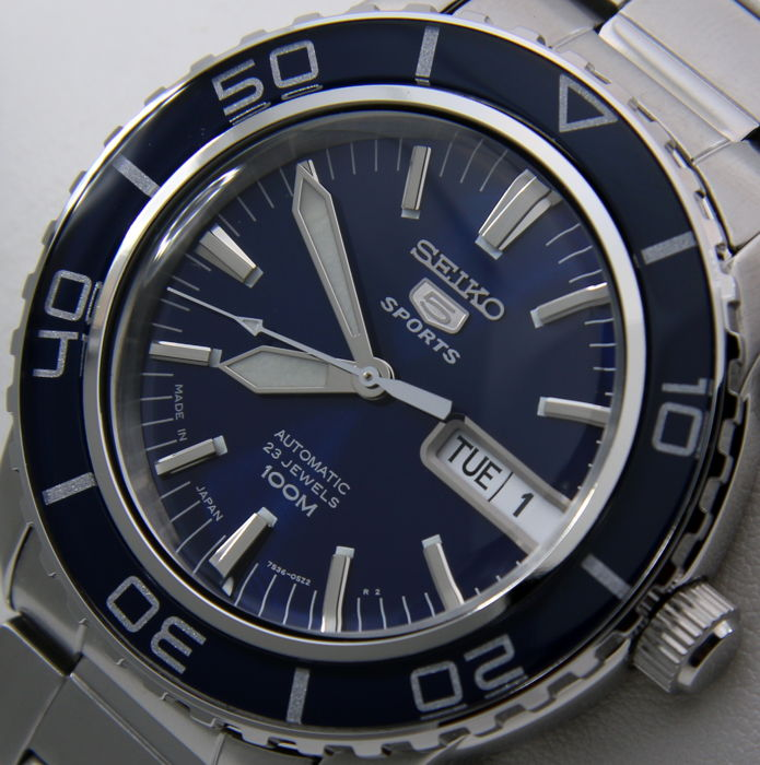 "Seiko - Automatic 23 Jewels ""50 Fathoms"" Blue - ""NO RESERVE PRICE"" - Heren - 2018"
